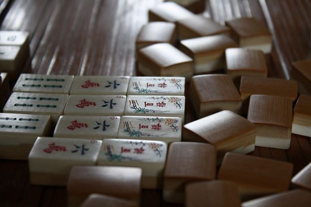 Photo of Mahjong Tiles Mahjongg by Henry Bush Flicker Creative Commons