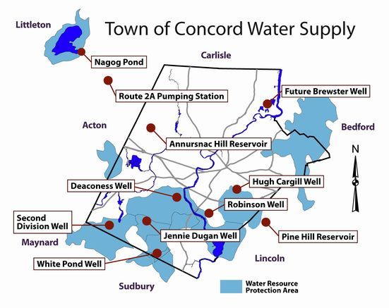 Map of Water Supply in Concord