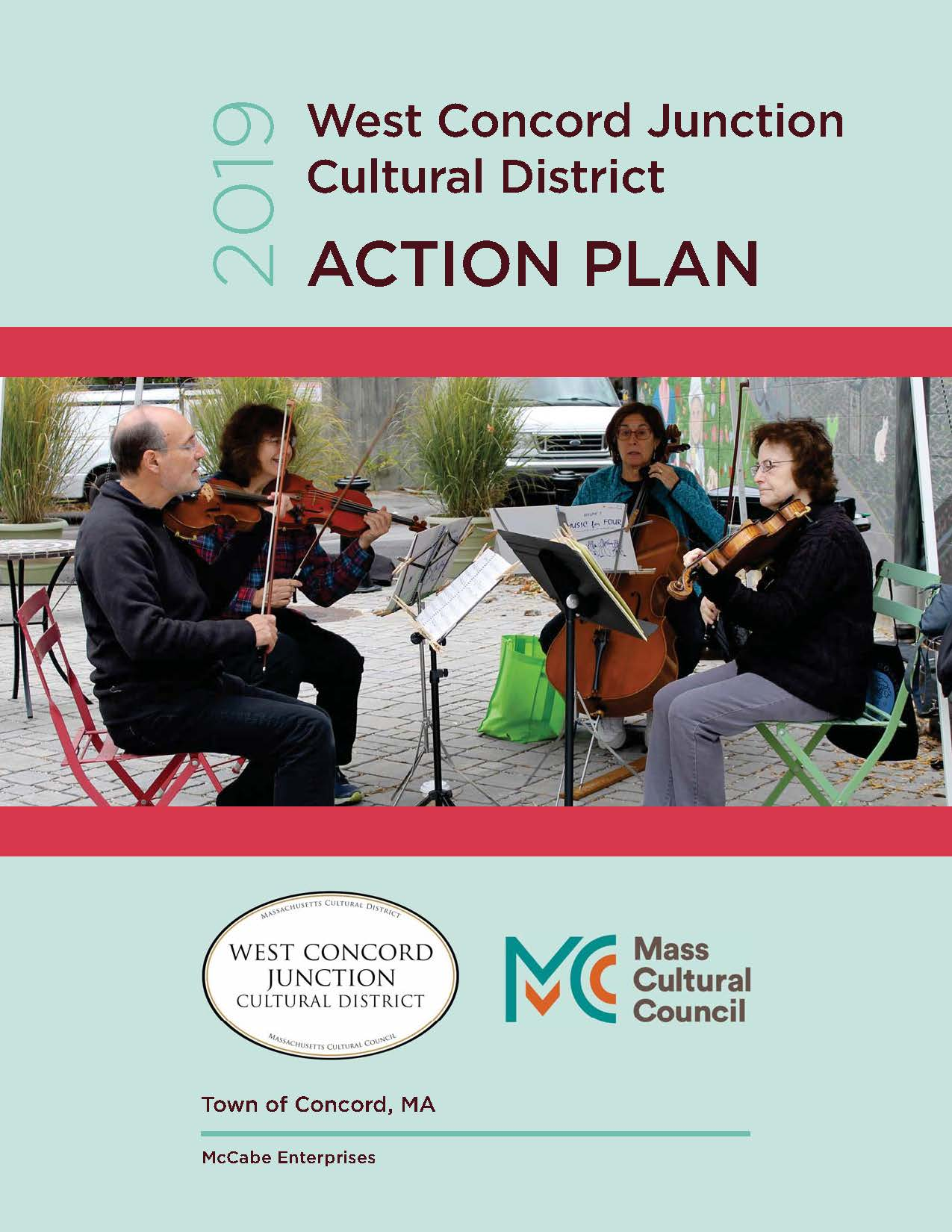 West Concord Junction Cultural District Plan Cover Opens in new window
