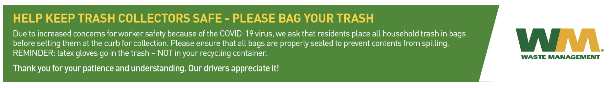 WM Bag Trash Reminder